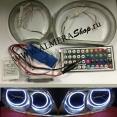 Комплект светодиодных окантовок на фары 26 цвета