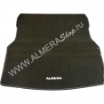 Коврик багажника велюровый Almera G15RA