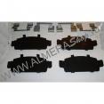 Пластины противоскрипные колодок (c АБС) тормозных передних