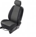 Чехлы для сидений Almera Classic серые эко-кожа